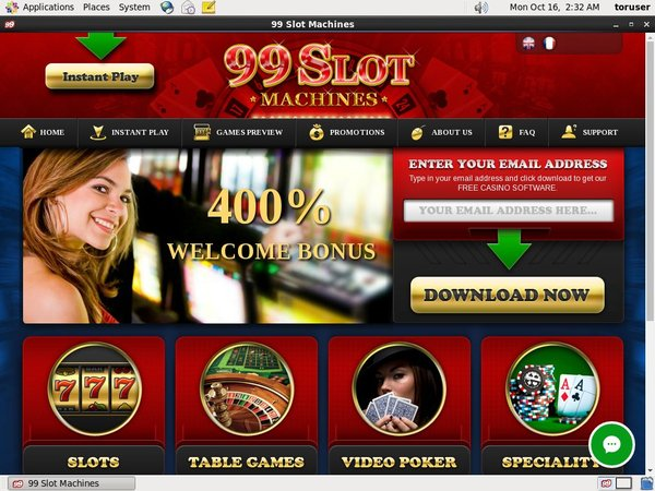 99slotmachines Free Bet Offer