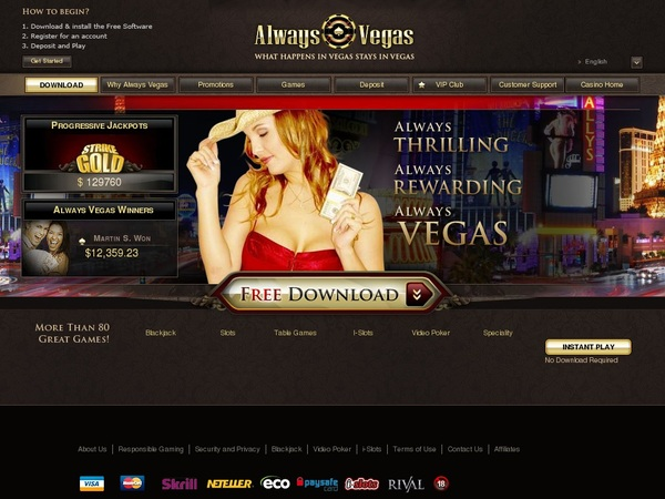 Always Vegas Payout