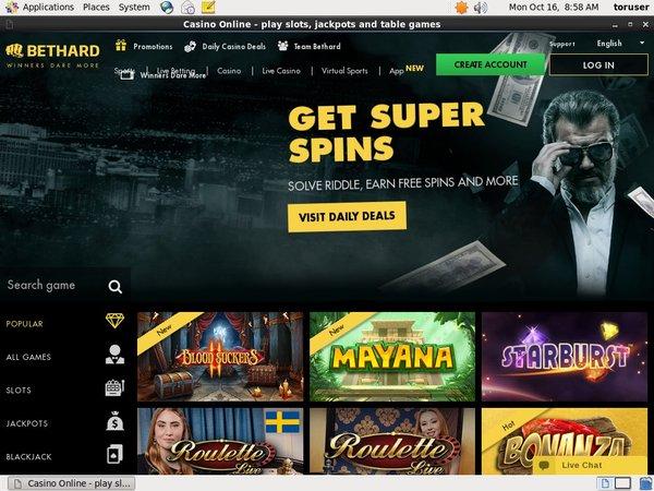 BetHard Casino Create New Account