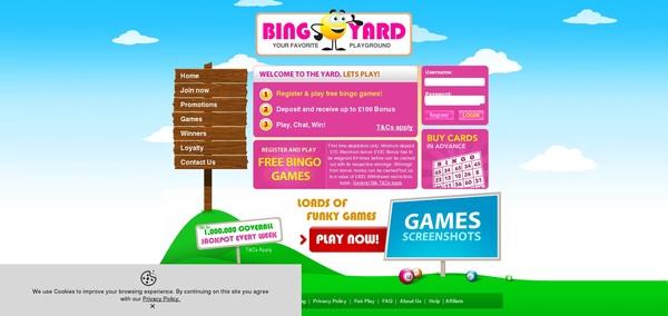 Bingo Yard 存款奖金