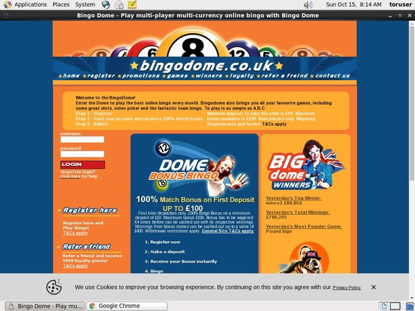 Bingodome Register Form