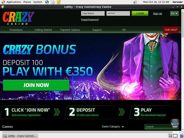 Crazycasino Mobil Casino Bonus