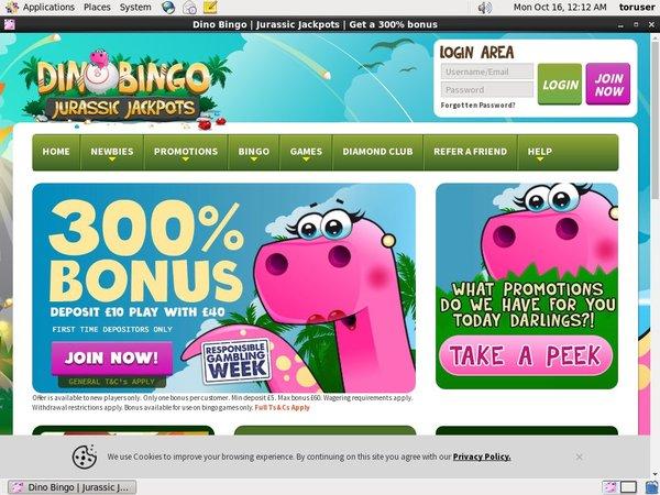 Dino Bingo Bonus Coupon