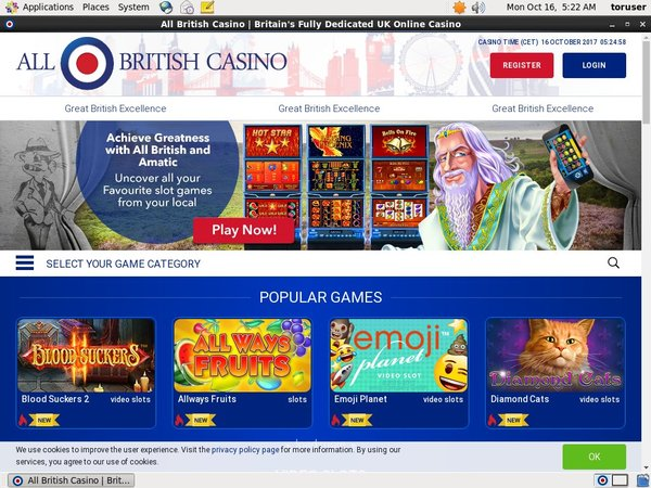 Signup Bonus All British Casino
