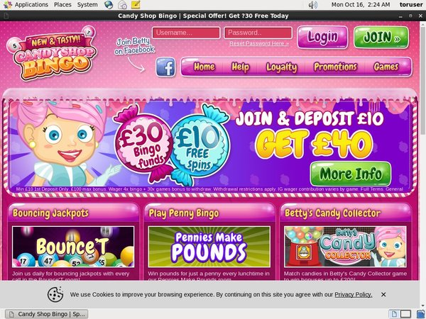 Candy Shop Bingo Gambling Bonuses