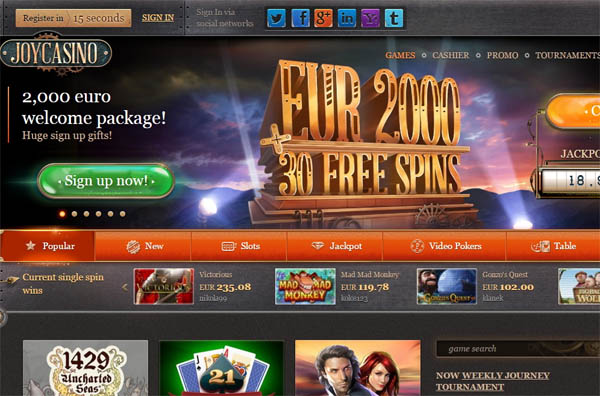 Signup Joy Casino
