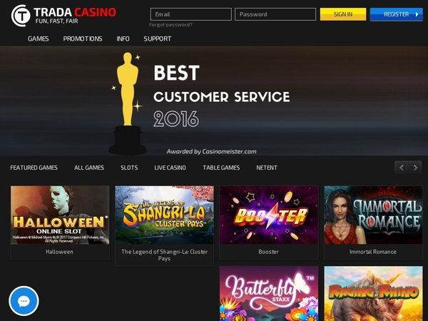 Trada Casino Online Betting