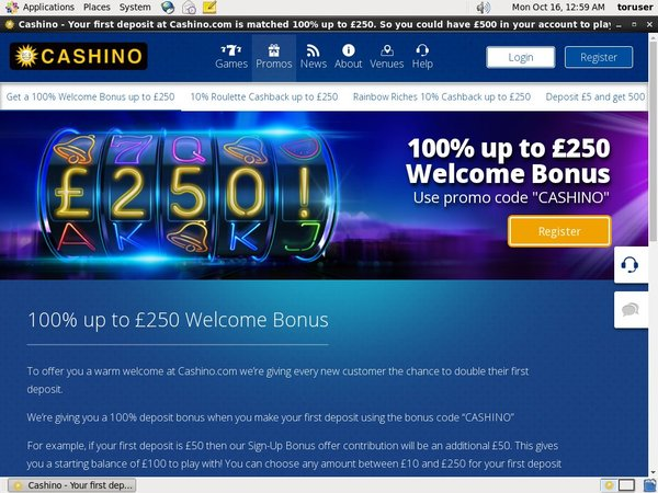 Cashino Sign Up Bonuses