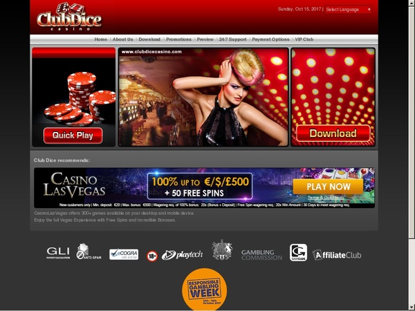 Club Dice Casino 100 Bonus