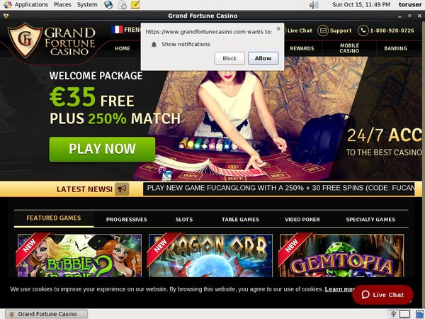 Grand Fortune Casino Spillet
