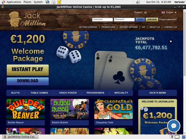 Jackmillion Online Casino Reviews