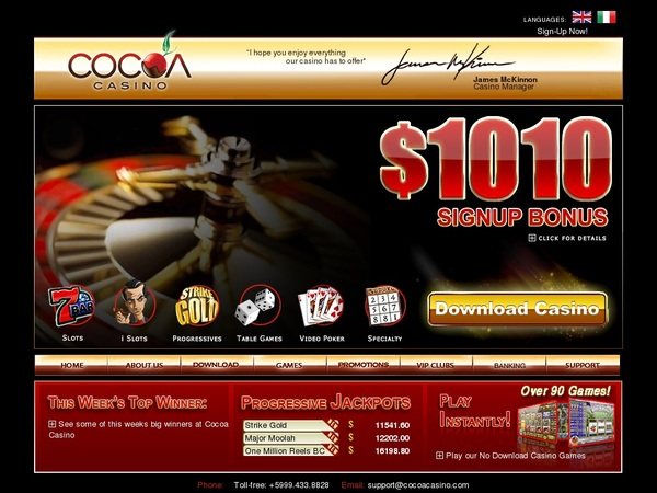 Cocoacasino Free Account