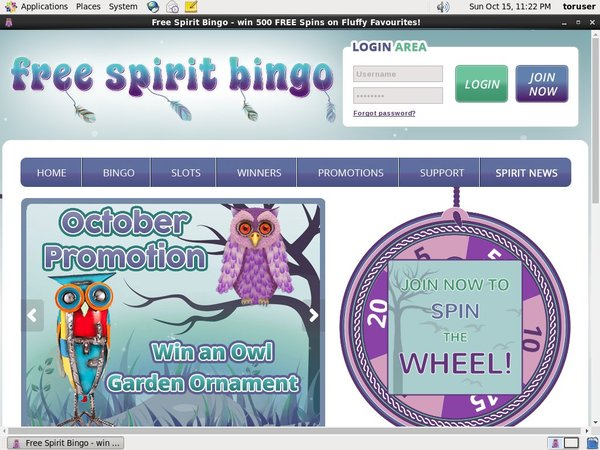 Freespiritbingo Credit Card