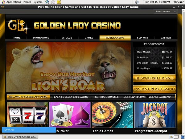 Goldenladycasino Make Deposit