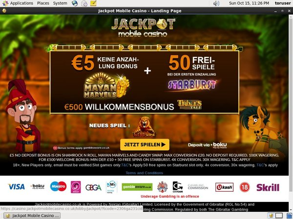 Jackpot Mobile Casino New Player Bonus