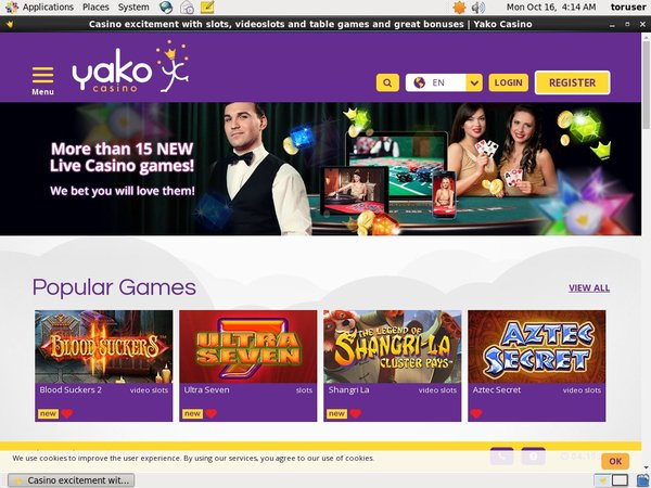 Yakocasino Sign Up