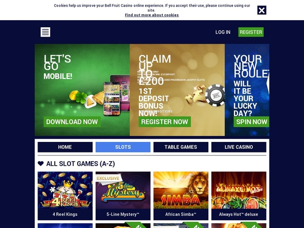 Free Bet Bell Fruit Casino