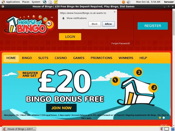 House Of Bingo Free Spins