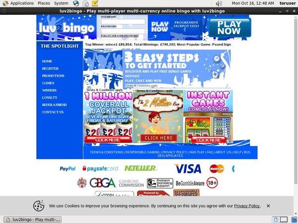 Luv 2 Bingo Uk Site