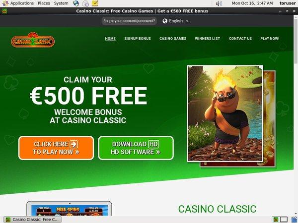 Casino Classic Mobile Discount Offer