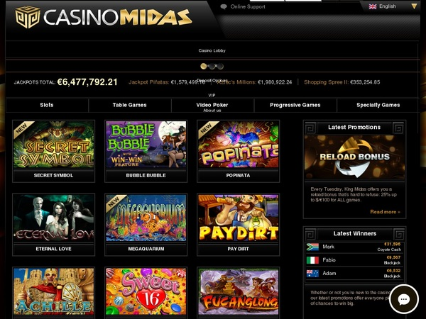Casino Midas Deposit Limit