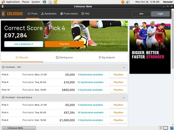 Colossusbets Union Pay