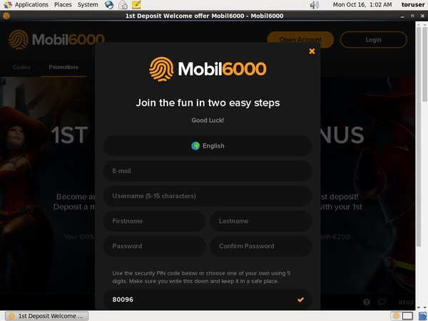Mobil6000 Sign Up