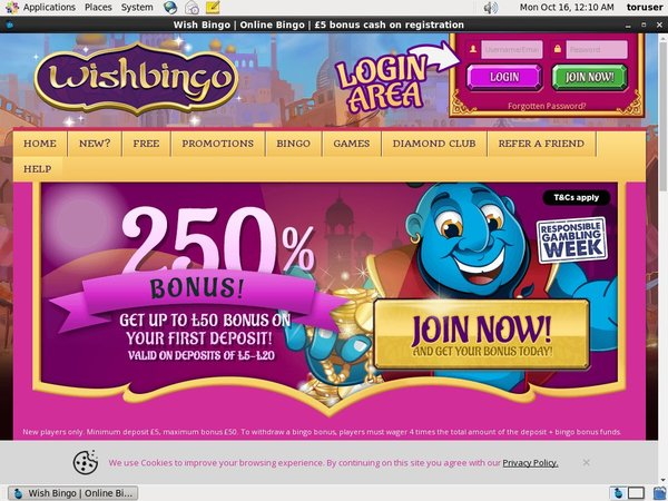 Wishbingo Opening Offer