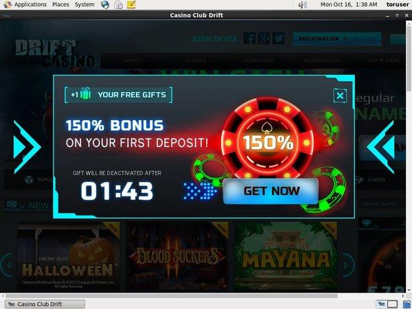Driftcasino Casino No Deposit