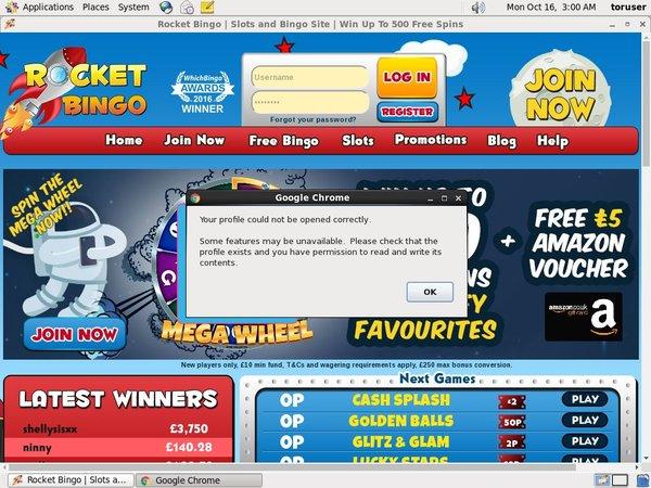 Rocket Bingo Member Bonus