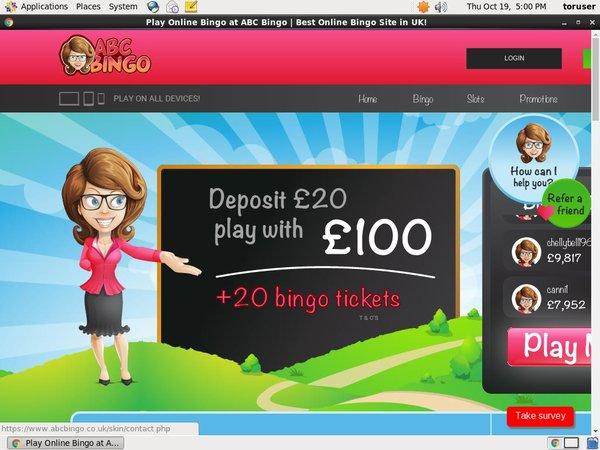ABC Bingo Free Spin Bonus