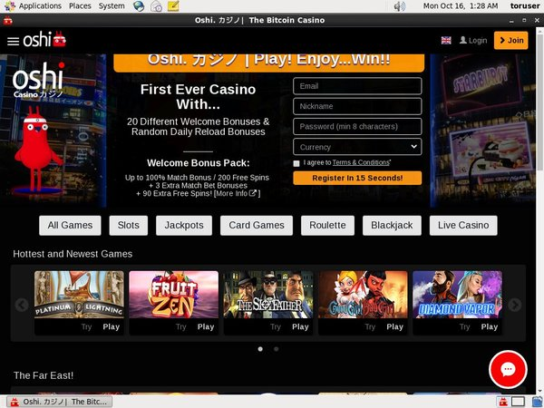 Download Oshi Casino App