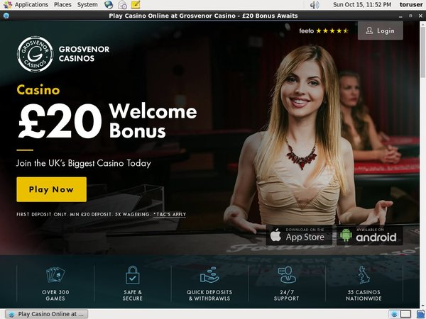 Grosvenorcasinos Matched Bet