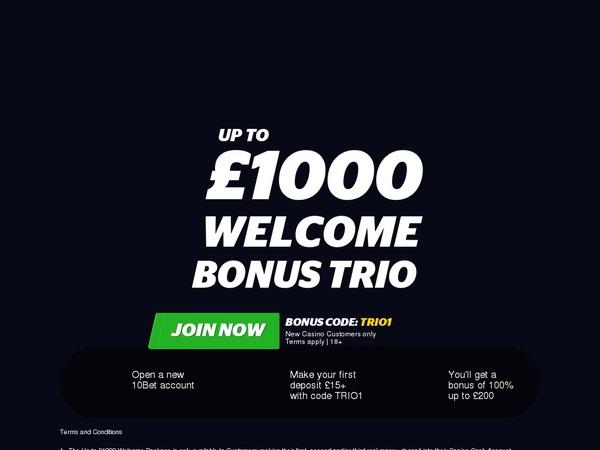 10bet Bonus Bet