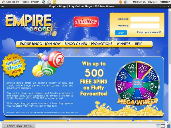 Empire Bingo Join Up Offer