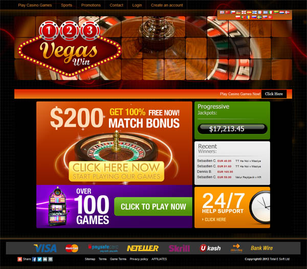 123 Vegas Win Free Account