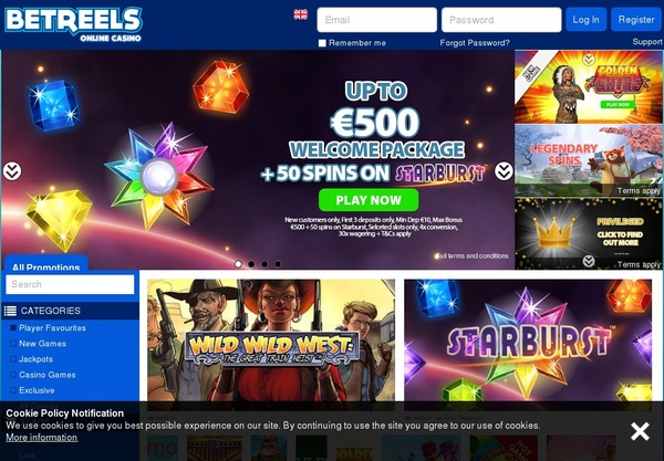 Casibetreels Online Casino Slots