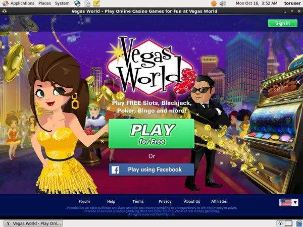 Vegasworld Online Casino Bonus