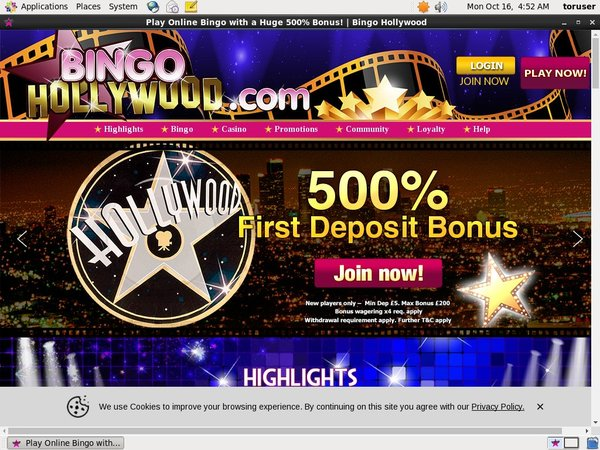 Bingo Hollywood Online Casino Sites