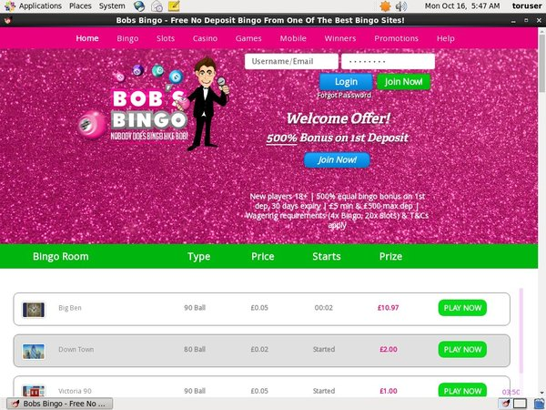 Bobs Bingo Real Money Paypal
