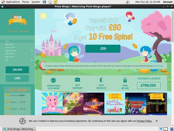 Pixie Bingo Spil Bonus