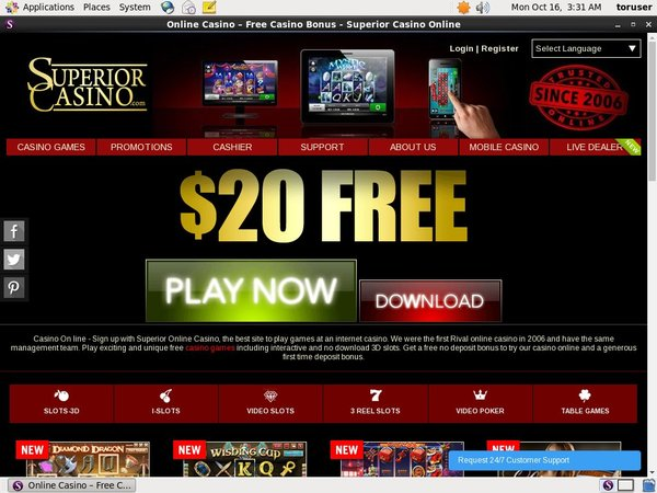 Register Superior Casino
