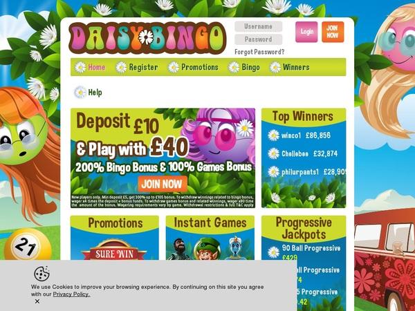 Daisy Bingo Internet Casino