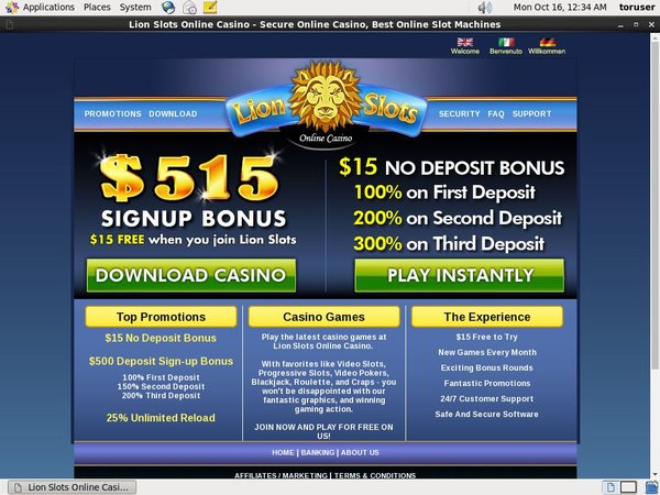 Become Lion Slots Member