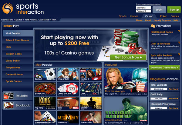 Sports Interaction Accept Paypal