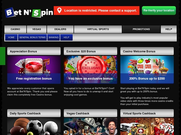Free Bet N Spin Spins