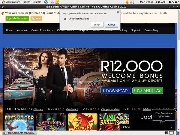 Yebocasino Paypal Bingo Bonus